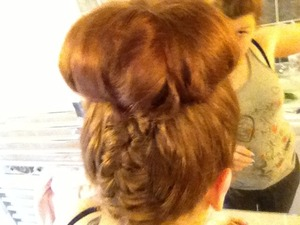 First attempt with the French plait
