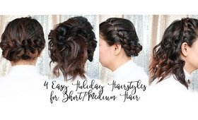 4 Easy Holiday Hairstyles for Short Hair | MsLaBelleMel