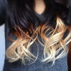Almost Withe Yellow Ombre