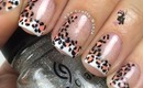 French Tip Leopard Nails by The Crafty Ninja