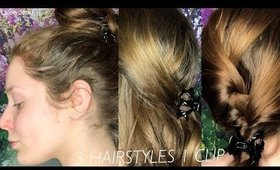 3 Hairstyles Using 1 Jaw Clip | Lillee Jean