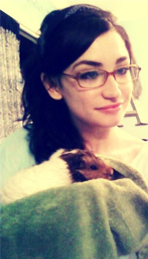 Me and Gwenith, my beautiful guinea pig. <3 Rest in peace little buddy!