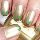 Holly Leaves Nails