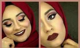 Rose Gold Valentine Makeup Look Feat. Kylie Jenner Lip Kit True Brown K