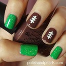 Super Bowl Football Nails!