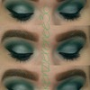 Green And Blue look with overly bold brows
