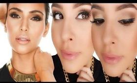 EVERYDAY smokey eye makeup using DRUGSTORE products! Kim K inspired. | NellysLookBook