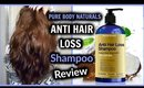 ANTI HAIR LOSS Shampoo Review │ Pure Body Naturals │ Natural Shampoo for Healthy Long Hair