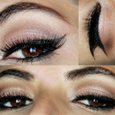 Pink and brown eye makeup