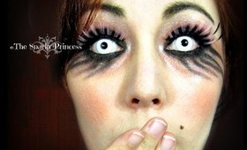 Gothic Dolly Halloween Inspired Eyes - Spooky Girl Pinks and Blacks - Snarky Princess