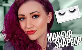 Critiquing YOUR LOOKS - How to Apply False Lashes Like a Pro (SO Easy)   MAKEUP SHAPEUP
