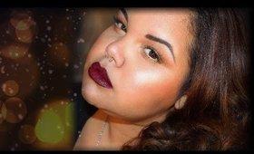 Fall into Winter Trend | Golden Lids & Dark Lips