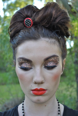 Leopard Eyes  Hair and Makeup- Jen P of PHATface