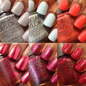 Check out the review of these polishes here: http://www.polish-obsession.com/2013/06/morgan-taylor-swatches-review.html
