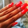 classic red nail