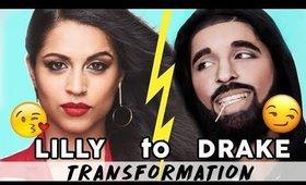 LILLY SINGH TO DRAKE Makeup Transformation | Kandee Johnson