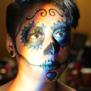 Sugar Skull Simple Blue 4