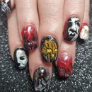 Halloween movie themed nails