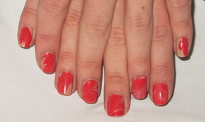 NOTD;; Coral Fixation!  ♥♥  Blog post here: http://rivuletsbeauty.blogspot.com/2012/02/notd-coral-fixation.html
