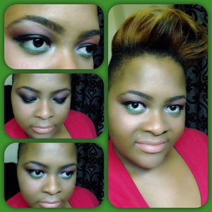 I thought I'll try something different for a holiday look, since my favorite color is black. God Bless