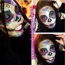 Sugar Skull Makeup By Me.