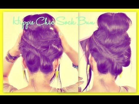 ★hippie fishtail wraparound braid bun easy updos