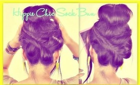★HIPPIE FISHTAIL WRAP-AROUND BRAID BUN  EASY UPDOS HAIRSTYLES FOR SCHOOL PROM FOR LONG HAIR TUTORIAL