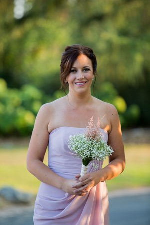I assisted my friend and colleague Nicole Cudzilo for this lovely wedding.  I did this beautiful Bridesmaid's make up (Other than the base make up which was airbrushed on by Nicole).