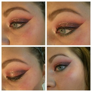 A look I did based on a red/gold/and green ornament on my tree!