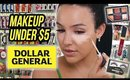 FULL FACE OF DOLLAR STORE MAKEUP: HIDDEN HOLY GRAILS? | Amanda Ensing
