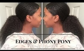 The Edges & Phony Ponytail Tutorial