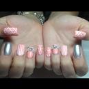 Peach dots & bows