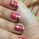 Fall colors - braided nails!