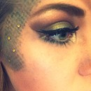 Mermaid Eye makeup. Naturals