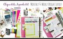 Clique Agenda Kit Review, Monthly & Weekly Layout For Your Planner // villabeauTIFFul