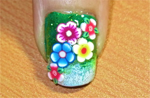 flower power nail art to watch video tutorial for this look, SUBSCRIBE free to my youtube nailart channel: www.youtube.com/nailartbynidhi