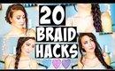 20 BRAID HAIR HACKS Every Girl Should Know!
