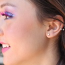 Pink and purple sparkle makeup