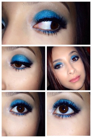 Just got some new shadows and I loved this blue 💙💙