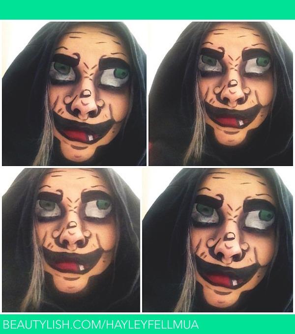 Disney Villain theatrical makeup