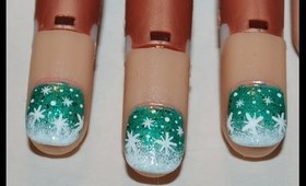 Winter's Green Nail Art Tutorial