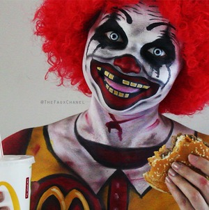 Since social media has been blowing up with clowns lately, I thought it would be the perfect time to upload a creepy clown halloween makeup tutorial... Ronald McDonald style!  Check out the tutorial here: https://youtu.be/0UoplwpnI0w