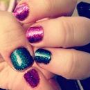 Quick glitter mani