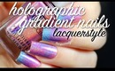 Holographic Gradient Nails | Lacquerstyle