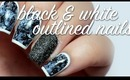 Black & White Outlined Nails Tutorial | lacquerstyle