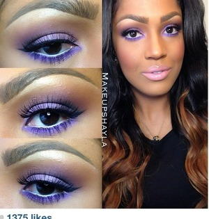 Purple is such a great color for warm skin tones. Seriously.