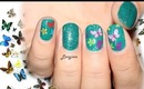 Butterfly Nail Design / How To Apply Nail Foils