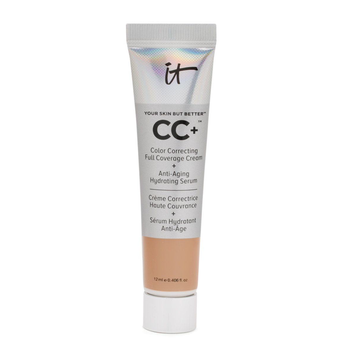 IT Cosmetics  CC+ Cream with SPF 50+ Travel Size Tan