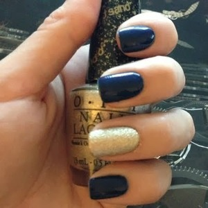 O.P.I. Honey Ryder and Essie Midnight Cami For more info please visit my blog