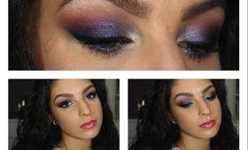 Royal Blue & Cranberry Makeup Tutorial ♥
